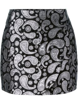 Paisley Jacquard Mini Skirt Stella Mccartney                                                                                                              чёрный цвет