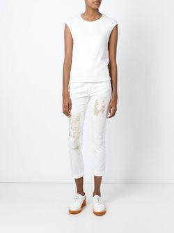 Джинсы С Вышивкой Stella Mccartney                                                                                                              белый цвет