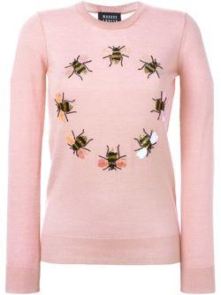 Свитер С Украшением В Виде Пчел Из Markus Lupfer                                                                                                              розовый цвет