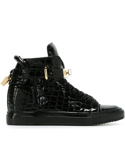 Embossed Wedge Sneakers Buscemi                                                                                                              черный цвет