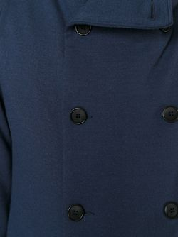 Двубортный Укороченный Бушлат Giorgio Armani                                                                                                              синий цвет