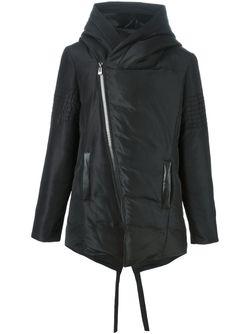 Дутое Пальто Со Смещенной Застежкой-Молнией Unconditional                                                                                                              черный цвет