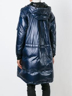 Удлиненная Дутая Куртка Sacai Luck                                                                                                              синий цвет