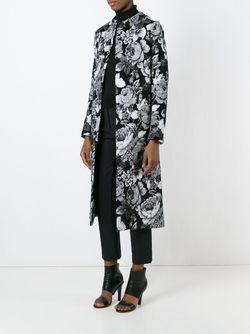 Жаккардовое Пальто A TENTATIVE ATELIER                                                                                                              чёрный цвет