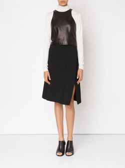 Side Slit Wrap A-Line Skirt Narciso Rodriguez                                                                                                              черный цвет
