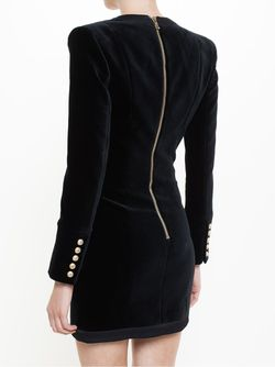 Buttoned Jacket Dress Balmain                                                                                                              черный цвет