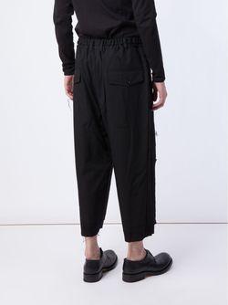 Укороченные Брюки Yohji Yamamoto                                                                                                              черный цвет