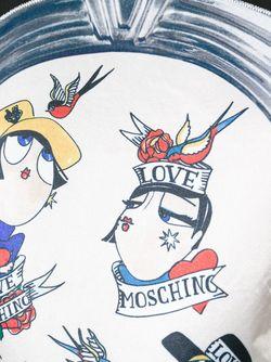 Футболка С Принтом Love Moschino                                                                                                              чёрный цвет