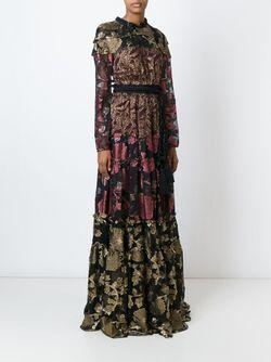 Прозрачное Вечернее Платье С Цветочным Узором Lanvin                                                                                                              чёрный цвет