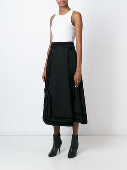 Satin Detail A-Line Skirt Lanvin                                                                                                              чёрный цвет