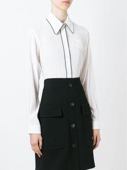 Рубашка С Контрастной Окантовкой No21                                                                                                              белый цвет