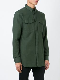Классическая Рубашка Balmain                                                                                                              зелёный цвет