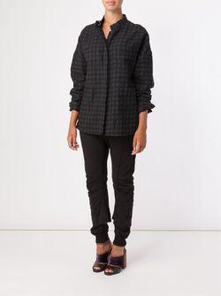 Клетчатая Рубашка С Воротником-Стойкой Haider Ackermann                                                                                                              черный цвет