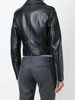 Укороченная Байкерская Куртка Dsquared2                                                                                                              черный цвет