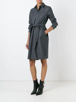 Классическое Платье-Рубашка Dsquared2                                                                                                              серый цвет