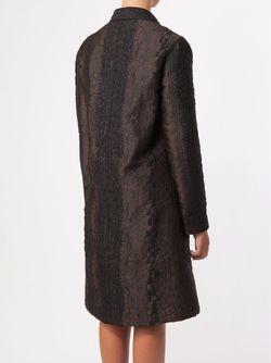 Двубортное Жаккардовое Пальто Lanvin                                                                                                              коричневый цвет