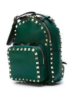 Small Rockstud Backpack Valentino Garavani                                                                                                              зелёный цвет
