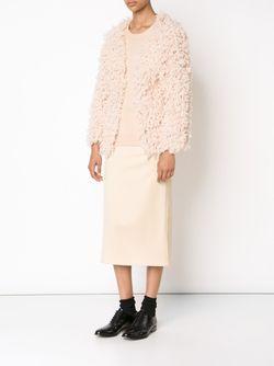 Open Front Cardigan RYAN ROCHE                                                                                                              розовый цвет
