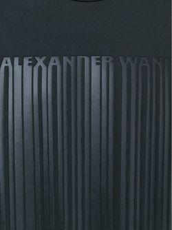 Толстовка С Принтом Логотипа Alexander Wang                                                                                                              черный цвет