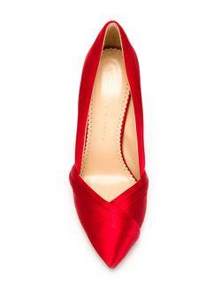 Туфли С Атласной Отделкой Charlotte Olympia                                                                                                              красный цвет