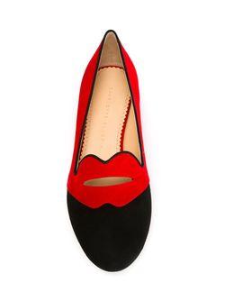 Слиперы Bisoux Charlotte Olympia                                                                                                              красный цвет