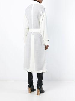 Длинное Пальто С Поясом Isabel Benenato                                                                                                              Nude & Neutrals цвет
