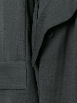 Длинное Пальто С Поясом Isabel Benenato                                                                                                              серый цвет