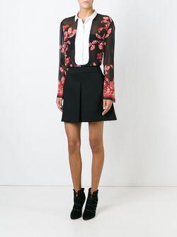 Блузка С Цветочным Принтом Giambattista Valli                                                                                                              черный цвет