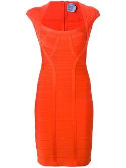 Облегающее Платье Hervé Léger                                                                                                              красный цвет