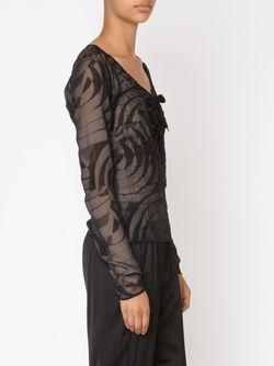 Блузка Со Сборками Maison Margiela                                                                                                              черный цвет