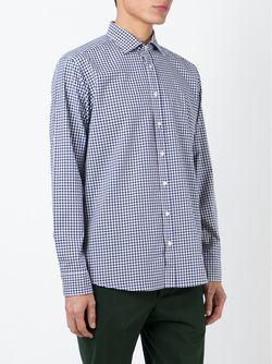Рубашка В Клетку Tom Etro                                                                                                              синий цвет