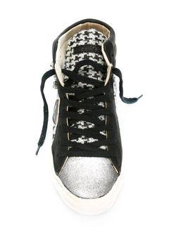 Хайтопы В Ломаную Клетку Philippe Model                                                                                                              черный цвет