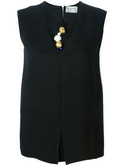 Декорированный Топ Maison Rabih Kayrouz                                                                                                              черный цвет