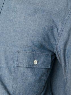 Классическая Рубашка Шамбре Maison Margiela                                                                                                              синий цвет