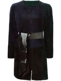Пальто Колор-Блок Blancha                                                                                                              синий цвет