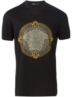 Medusa T-Shirt Versace                                                                                                              черный цвет