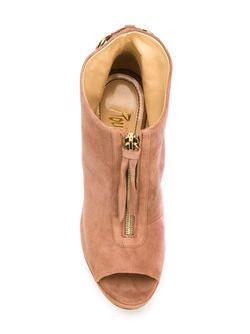 Ботинки С Открытым Носком На Массивном Каблуке JEROME ROUSSEAU                                                                                                              розовый цвет