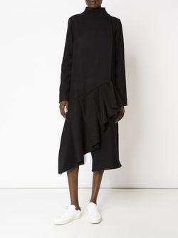 Асимметричное Пальто С Оборкам На Подоле AUDRA                                                                                                              черный цвет