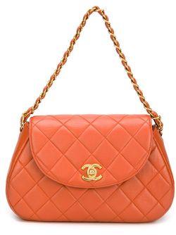 Стеганая Сумка На Плечо Chanel Vintage                                                                                                              желтый цвет