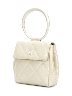Клатч С Ручкой-Кольцом Chanel Vintage                                                                                                              белый цвет