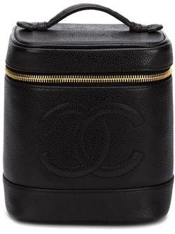 Косметичка В Форме Цилиндра Chanel Vintage                                                                                                              черный цвет