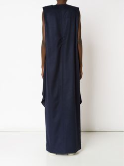 Crossed Draped Front Maxi Dress AUDRA                                                                                                              синий цвет