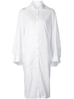 Платье-Рубашка Свободного Кроя AUDRA                                                                                                              белый цвет