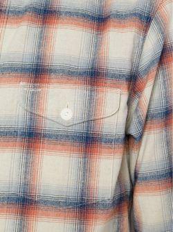 Фланелевая Рубашка В Клетку RRL                                                                                                              синий цвет