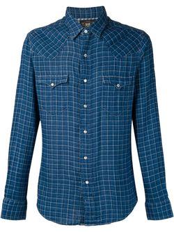 Рубашка В Клетку RRL                                                                                                              синий цвет