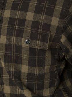 Рубашка В Клетку RRL                                                                                                              коричневый цвет