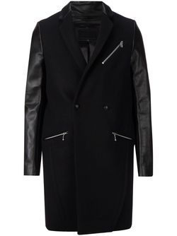 Пальто С Контрастными Рукавами 99 IS                                                                                                              чёрный цвет