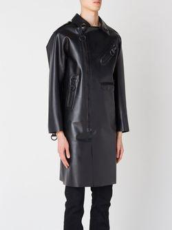 Oversized Zip Detail Coat Ktz                                                                                                              чёрный цвет