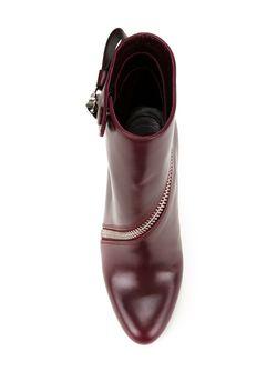 Ботинки С Асимметричной Молнией Alexander McQueen                                                                                                              розовый цвет