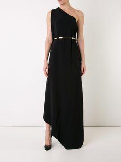 Платье На Одно Плечо Stella Mccartney                                                                                                              черный цвет